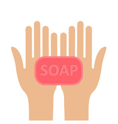 Wash your hands with soap sign virus protection vector