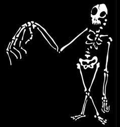 Weird arm skeleton outline vector
