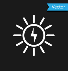 white solar energy panel line icon isolated on vector image