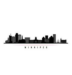 winnipeg skyline horizontal banner vector image