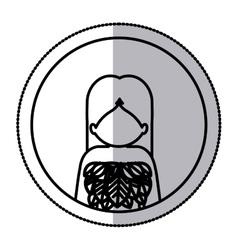 Woman profile pictogram vector