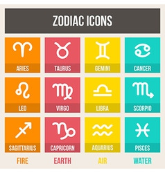 Zodiac signs set vector image