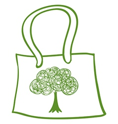 A green recycled bag vector