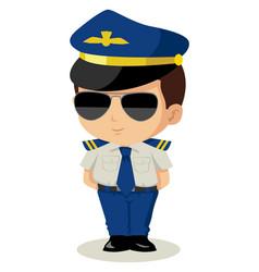 chibi pilot vector image vector image