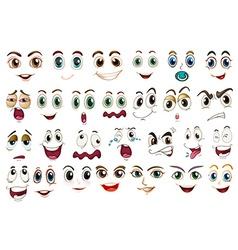 Facial expressions vector image vector image