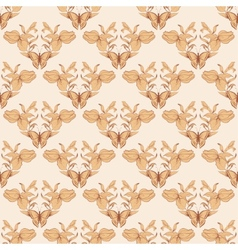 Filigree seamless with butterfly vector image