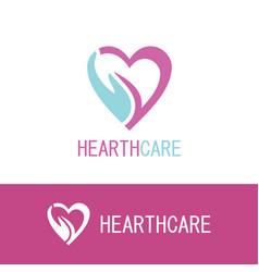 hand hearth care logo vector image