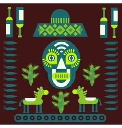 Mexican decorative elements vector image vector image
