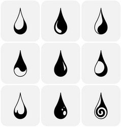 Set of water drops of different kind vector image vector image