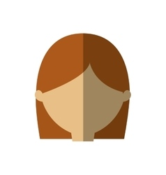 Avatar woman face head graphic shadow vector