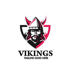 creative viking head warrior w vector image