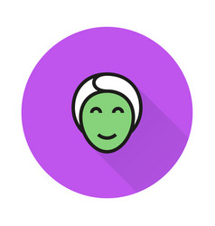 face mask icon on round background vector image
