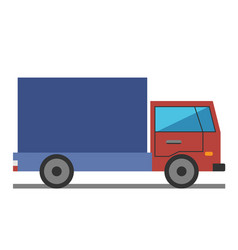 lorry flat style vector image