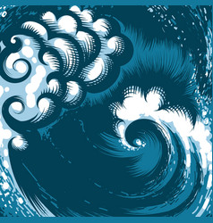 ocean wave vector image