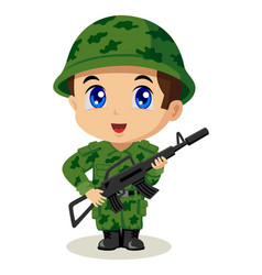 chibi soldier vector image