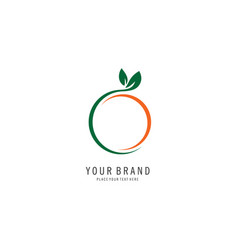 fruit abstract logo vector image vector image