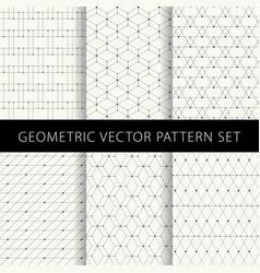geometric pattern set vector image