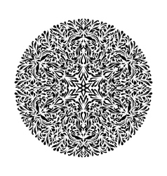 Monochrome black and white lace ornament vector image vector image