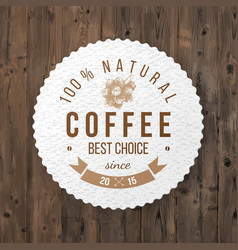 round coffee emblem with type design vector image vector image
