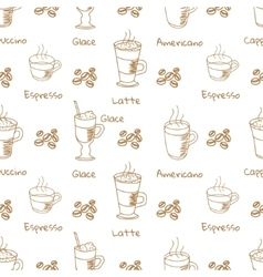 seamless pattern with coffee drink vector image
