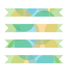 Set collection of colorful layered ribbons vector