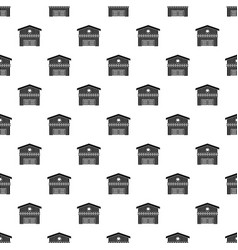 barn for animals pattern vector image vector image