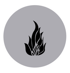 blue emblem sticker fire icon vector image