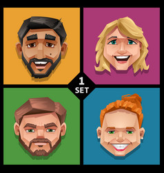 funny face -set 1 vector image vector image