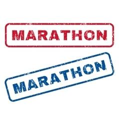 Marathon Rubber Stamps vector image vector image