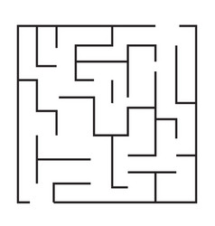 maze puzzle game icon maze square labyrinth on vector image vector image