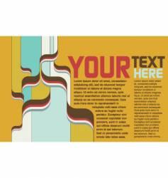 retro psychedelic page-spread vector image vector image