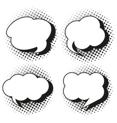 speech bubble templates in grayscales vector image vector image