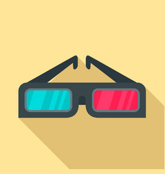 3d glasses icon flat style vector