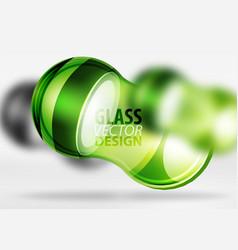3d techno glass bubble design vector