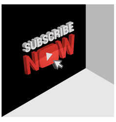 3d youtube subscribe screen background vector