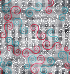 Abstract spiral seamless texture with grunge vector