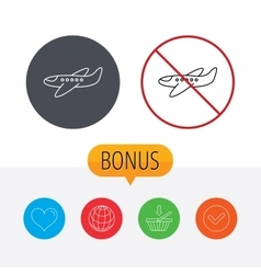 Airplane icon Aircraft travel sign vector image