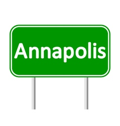Annapolis green road sign vector
