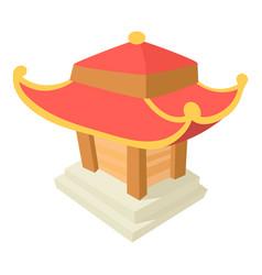 asian pagoda icon cartoon style vector image
