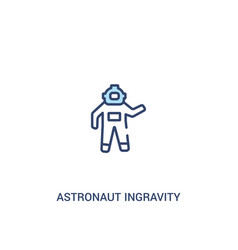 Astronaut ingravity concept 2 colored icon simple vector