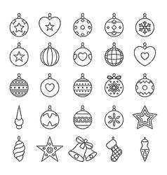 Black and white christmas balls vector image