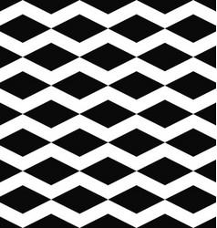 Black white seamless rhombus pattern background vector image