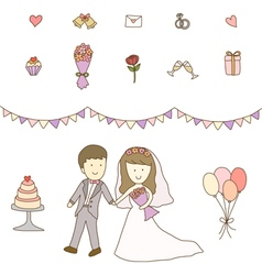 Bride and Groom Wedding vector