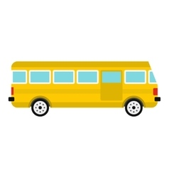 Bus icon flat style vector