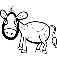 Calf cartoon for coloring book vector