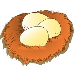 Cartoon egg and nest clipart vector
