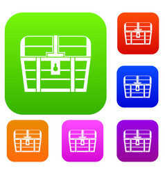 chest set collection vector image vector image