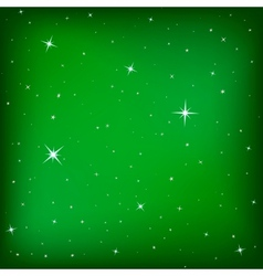 Christmas stars on the green background vector image