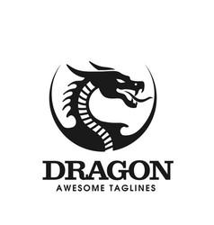 circle dragon head vector image