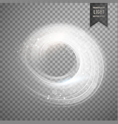 circular transparent white light effect background vector image